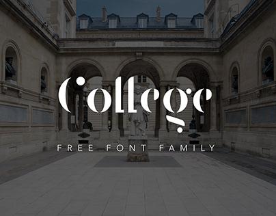 COLLEGE - FREE ELEGANT STENCIL FONT