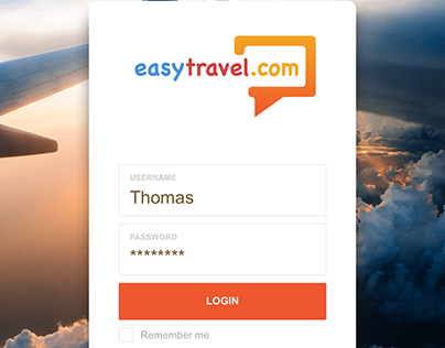 Easytravel.com - Login Page