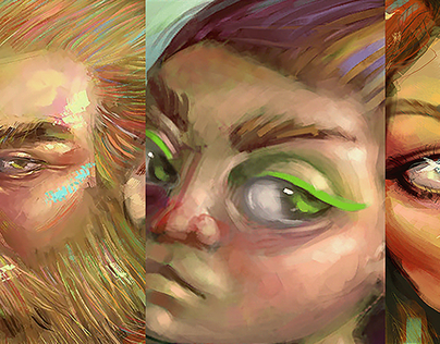 quick portrait paintings