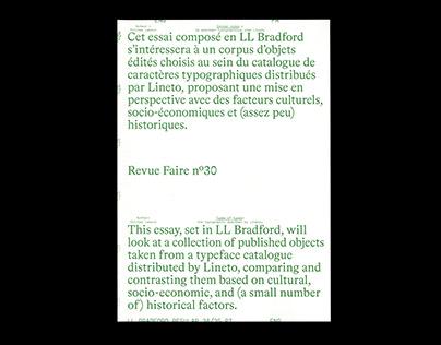 Revue Faire n°30