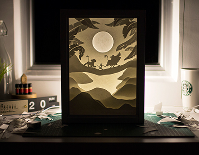 Handcut Paper Poster: The Lion King
