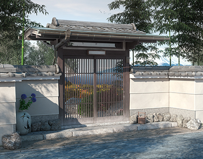 Ancient japanese entrance