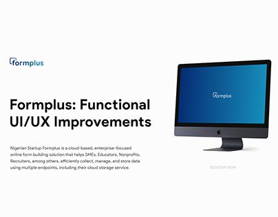 Formplus: UI/UX Improvement