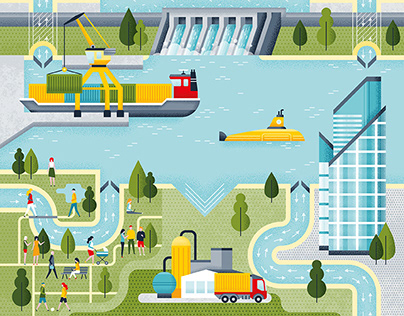 Lanxess, editorial illustration