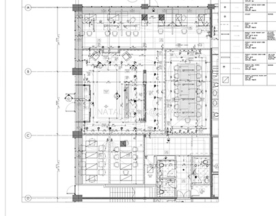 Reflecting Ceiling & Lighting Plan-Office Building
