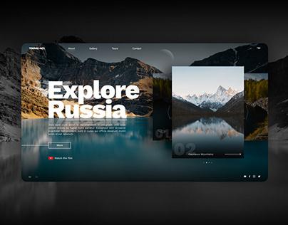 Explore Russia. Figma landing page template