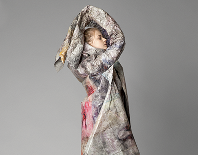 Re-coat - experimental paper textile