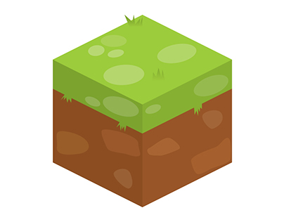 Isometric ground and character art