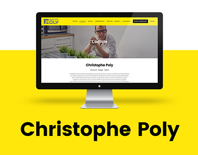 Website redesign - Christophe Poly