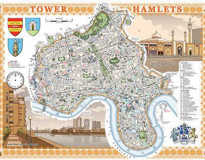 Illustrated maps of London boroughs & neighbourhoods