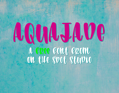 Aquajade - A Free Brush Font