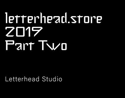 Letterhead.store 2019 Part Two