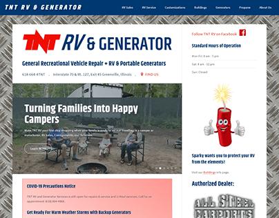 TNT RV & Generator Website, 2020
