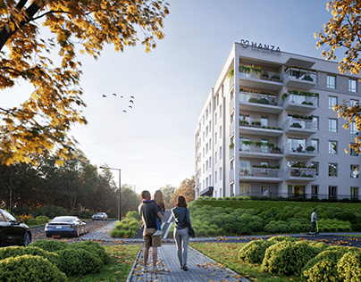 BLUE by Hanza - Housing building CGI