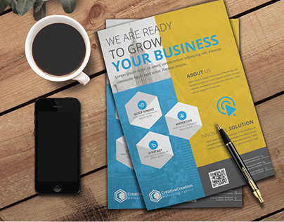 Corporate Flyer free PSD & EPS