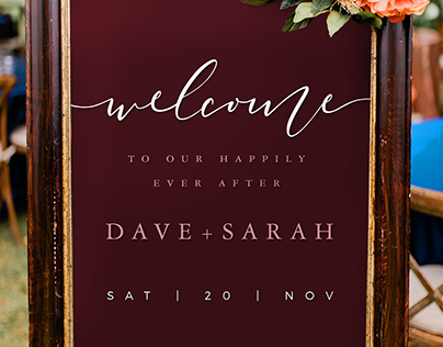 Customizable Welcome Wedding Posters