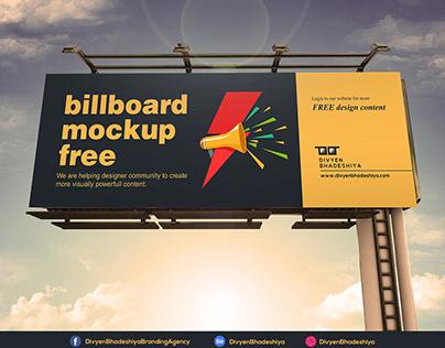 Free PSD - Billboard Mockup 2