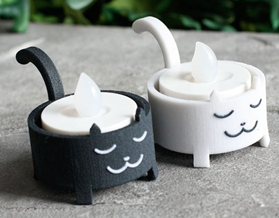3D printed Cat Tea Light