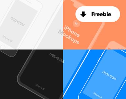 iPhone Mockups - Freebie for Sketch & Photoshop