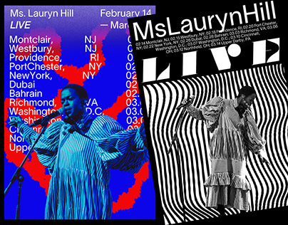 Poster Design for Ms. Lauryn Hill's 2020 tour