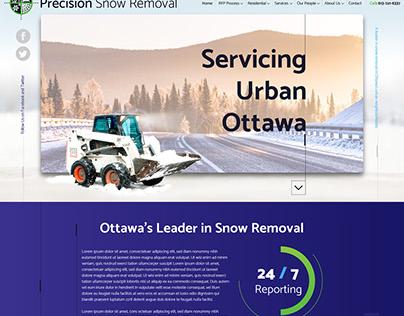 Precision Snow Removal Website Design