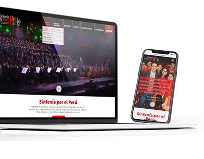Sitio web SINFONÍA POR EL PERÚ