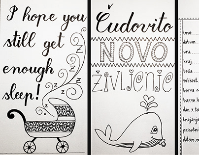 Post card for a newborn mommy and her baby