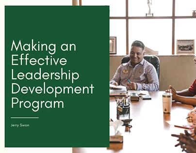Making an Effective Leadership Development Program