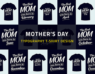 Mother's Day Typography T-shirt Design Template