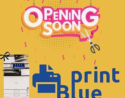 Blue Print social media design