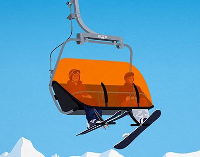 Canyons ski resort poster
