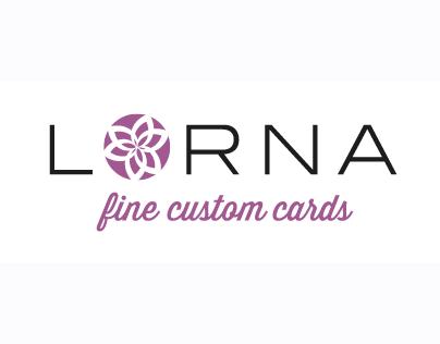 Lorna fine custom cards: logo design