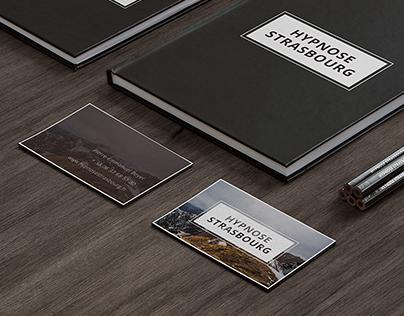 Hypnose Strasbourg. Design business card