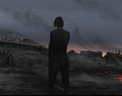 Returning to a burned down village