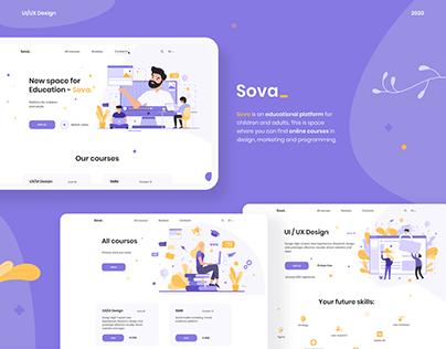 Educational platform Sova | Web Design