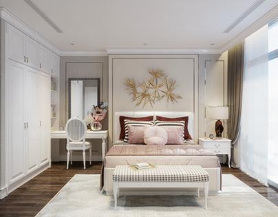 Luxury master bedroom. Vinhome Tancang