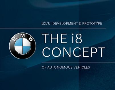 BMW i8 Autonomous Vehicle UX/UI Concept