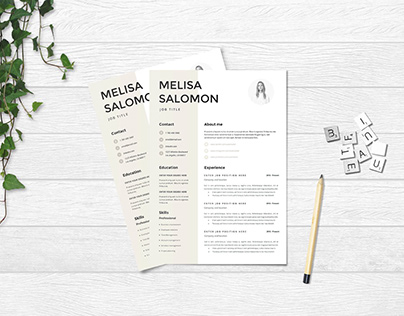 Free Elegant Resume Template with Simple Design