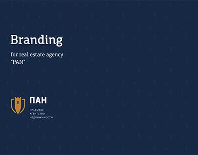 "Branding for real estate agency ""PAN"""