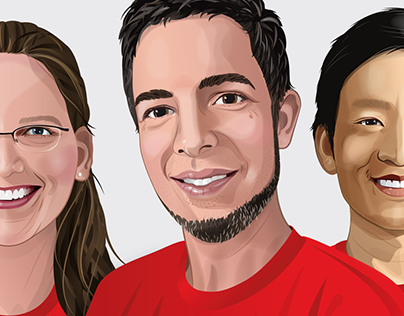 Team Members portrait Illustrations // LITE Games GmbH