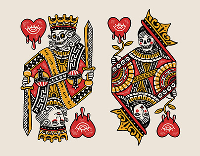 KING & Queen design for Bad Monday Apparel
