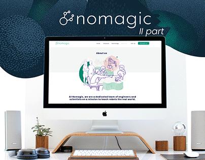 Nomagic website (part II)