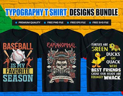 Typography T-Shirt Design Free Download