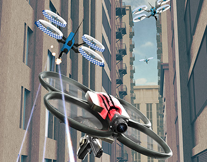 Cover art for Police Drone Squadron.
