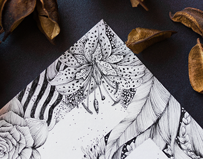 """Illustrated """"Tiger Lily"""" E"""