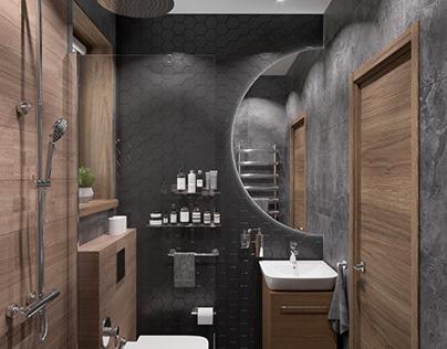Small bathroom design and visualization