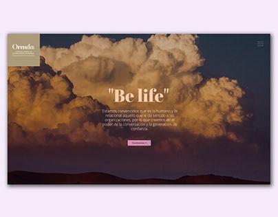OrendaLife web design