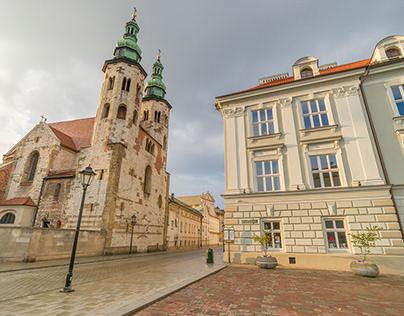 A morning walk in Krakow