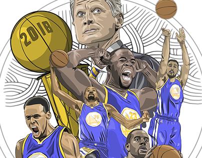 2018 NBA Champions Golden State Warriors