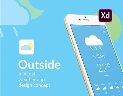 Minimal weather app design concept